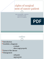 Principles of Surgical Management of Cancer Patient