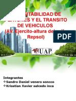Transitabilidad de Peatones y El Transito de Vehiculos
