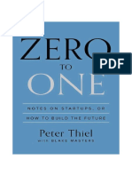 Zero to One - Notes on Startups - Peter Thiel (1)