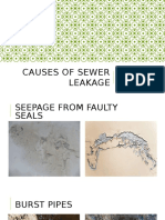 Causes of Sewer Leakage