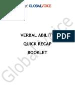 Verbal Quick Recap Booklet