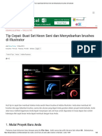 Tip Cepat_ Buat Set Neon Seni Dan Menyebarkan Brushes Di Illustrator