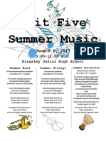 summer music flyer