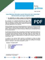 Nota de Prensa Nº 088-2017 - AAA CAPLINA OCOÑA