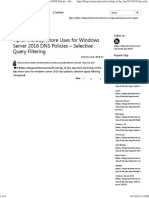 DNS Policies Selective Filtering