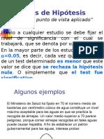 Bioestadistica Clase 05 Pruebas de Hipotesis