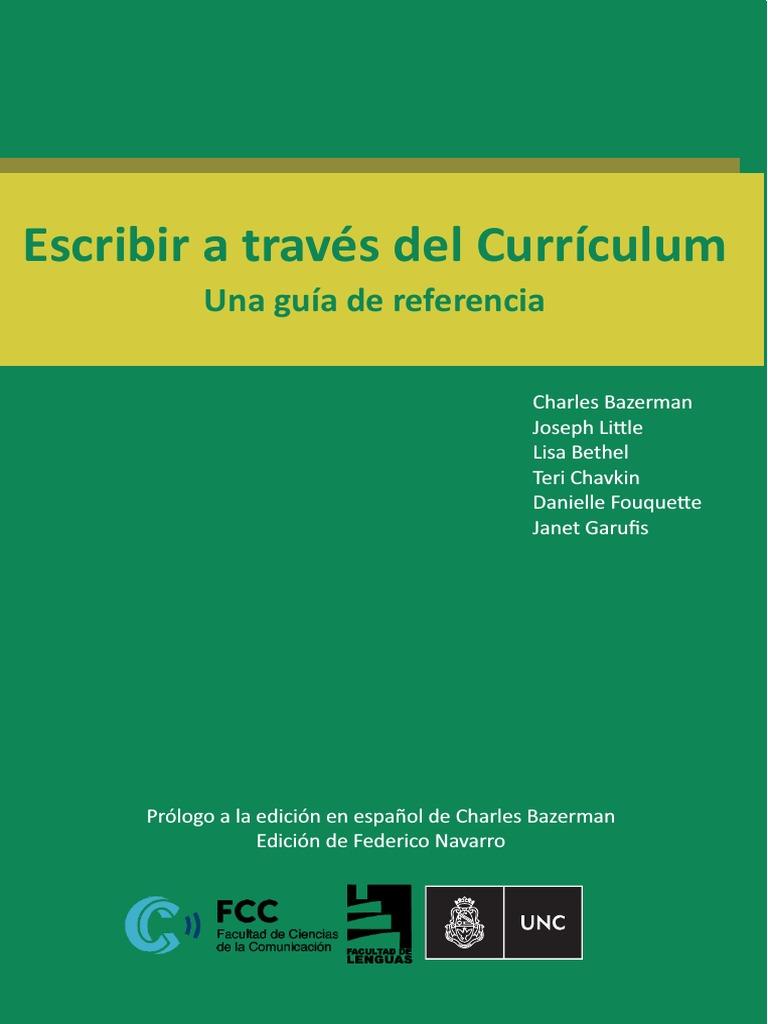Bazerman Et Al _2016_Escribir a Traves de Curriculum-1