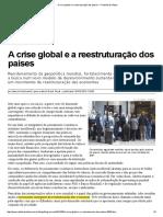 POCHMANN 2015 a Crise Global e a Reestruturação Dos Países — Rede Brasil Atual