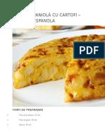 Omletă Spaniolă Cu Cartofi – Tortilla Espanola