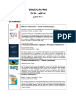Bibliographie Evaluation