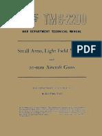 (1943) TM 9-2200 Small Arms, Light Field Mortars and 20-mm Aircraft Guns