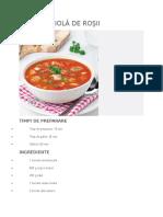 Supă Spaniolă de Roşii