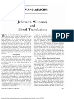Edwin J. Holman - Jehovah's Witnesses and Blood Transfusions