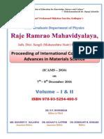 Proceedings ICAMS 2016