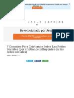 7 Consejos Para Cristianos Sobre Las Redes Sociale
