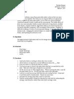 indoor particulates lab report