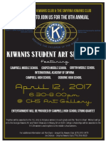 kiwanis art show flyer 2017