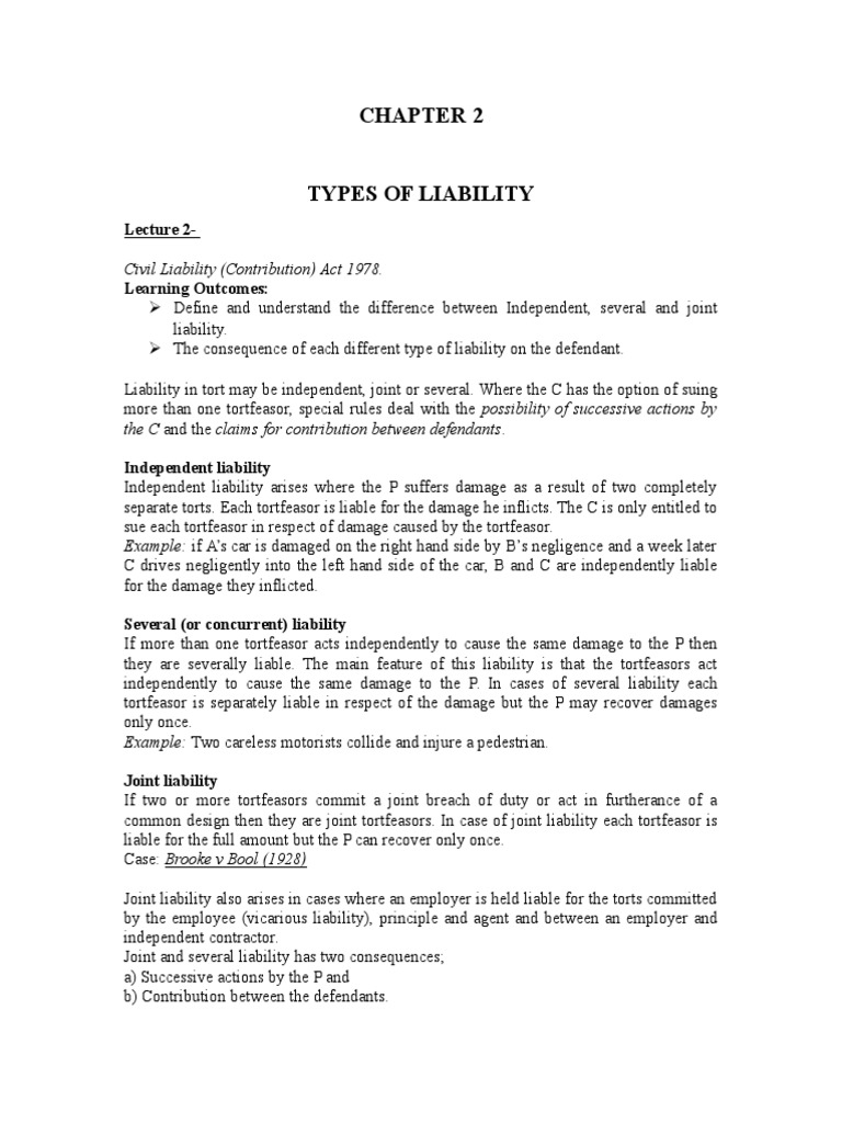 What is joint and several liability 38