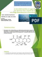 Extracción de Oxitetraciclina en Agua de Mar Por Biomasa Viva y Muerta de La Microalga Phaeodactylum Tricornutum