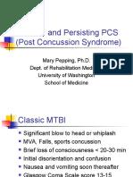 Mild TBI and Persisting PCS