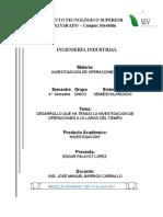 Desarrollo Histórico de La Inv. de Operaciones