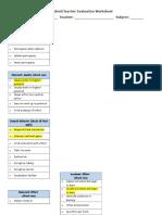 student-teacher class evaluation sem2