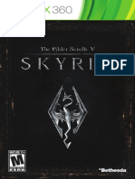 Skyrim  x360 Manual - EnUS