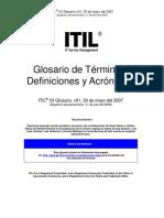 Glosario ITIL en Espanol