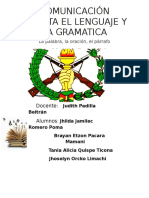 Comunicación Escrita El Lenguaje y La Gramatica