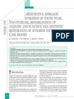 Prosthetic Restorative Approach for the Restoration of Tooth Wear Vdo Increase Rehabilitation of Anatomy and Function and Aesthetic Restoration of Anterior Teeth