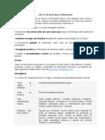 Lei 12.527 2011 Acesso a Informação