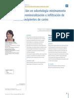 ACTUALIZACION en OMI Remineralización e Infiltración de Lesiones Incipientes de Caries