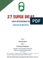 eBook 27SuperDicasParaProfissionaisDeAnaliseDeNegocios