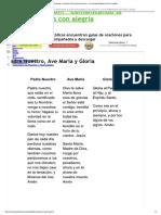 Padre Nuestro, Ave María y Gloria _ Rez..