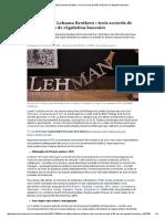 De Herstatt à Lehman Brothers _ Trois Accords de Bâle Et 35 Ans de Régulation Bancaire