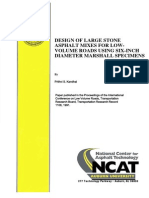 Design of Large Stone Asphalt Mixes for Low Volume Roads Using Six-Inch Diameter Marshall Specimens