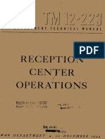 (1944) TM 12-223 Reception Center Operations