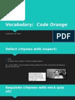 code orange vocabulary 03