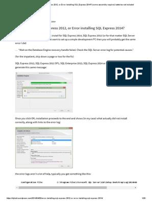 SQL Server - Error de Instancia | Microsoft Sql Server
