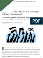 La Política en La Calle. ¿Vitalidad de La Democracia o Síntoma de Sus Problemas_ - 16.04