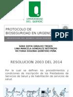 Protocolo de Bioseguridad en Urgencias