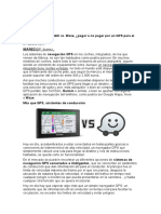 Navegador GPS Portátil vs Waze