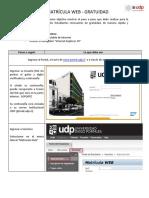 Guía Rápida Matrícula Web Gratuidad