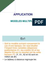 1-4- APPLICATION Modele Multiple