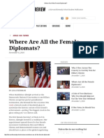 Where Are All the Female Diplomats