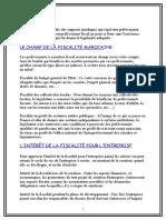 2- Le Champ de La Fiscalite Marocaine