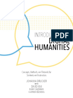 Introduction to Digital Humanities. Johanna Drucker
