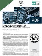 Dividendenstudie Deutschland 2017