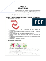 Taller 1 Proteinas - Biologia Molecular