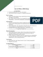dbq essay notes sheet